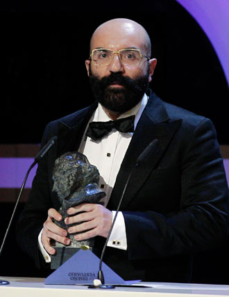 Paco Delgado en los premios Goya 2013 del cine español