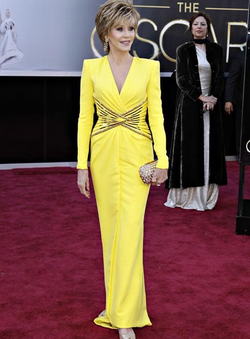 El Versace de Jane Fonda en los Oscar 2013