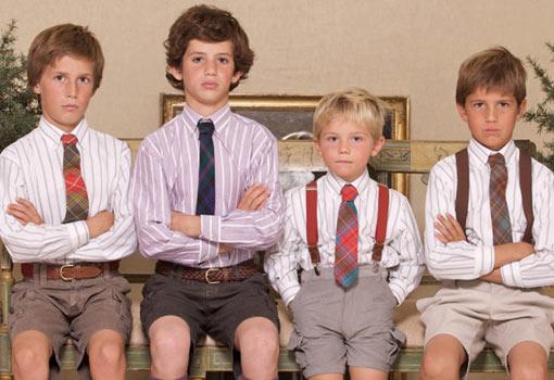 Las corbatas para niños: un concepto casi inexistente hasta hace poco en el mundo de la moda