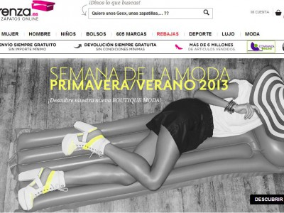 Sarenza, la tienda de zapatos online número uno en Europa