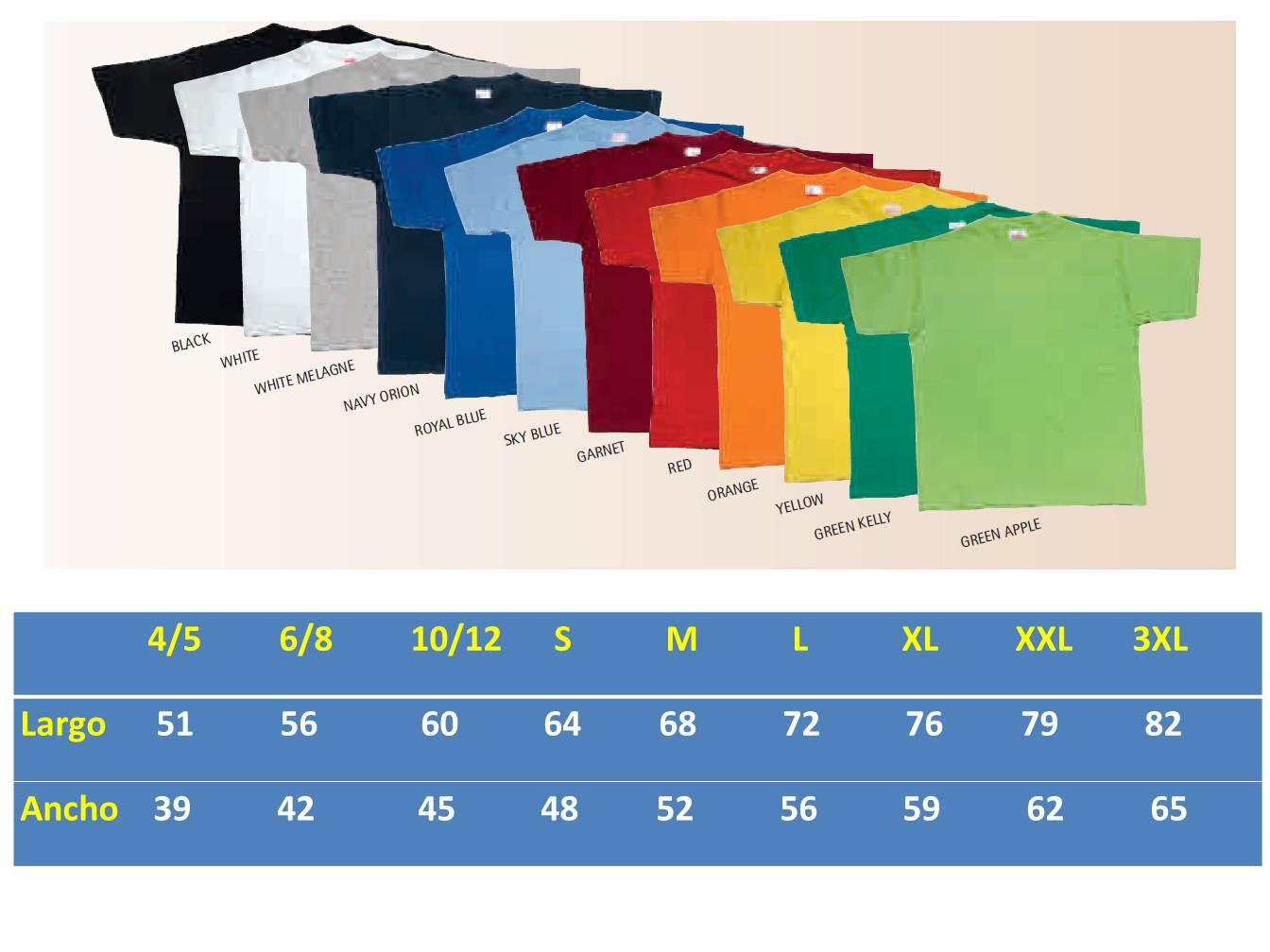 Las camisetas de colores sólidos y uniformes son ideales para personalizar