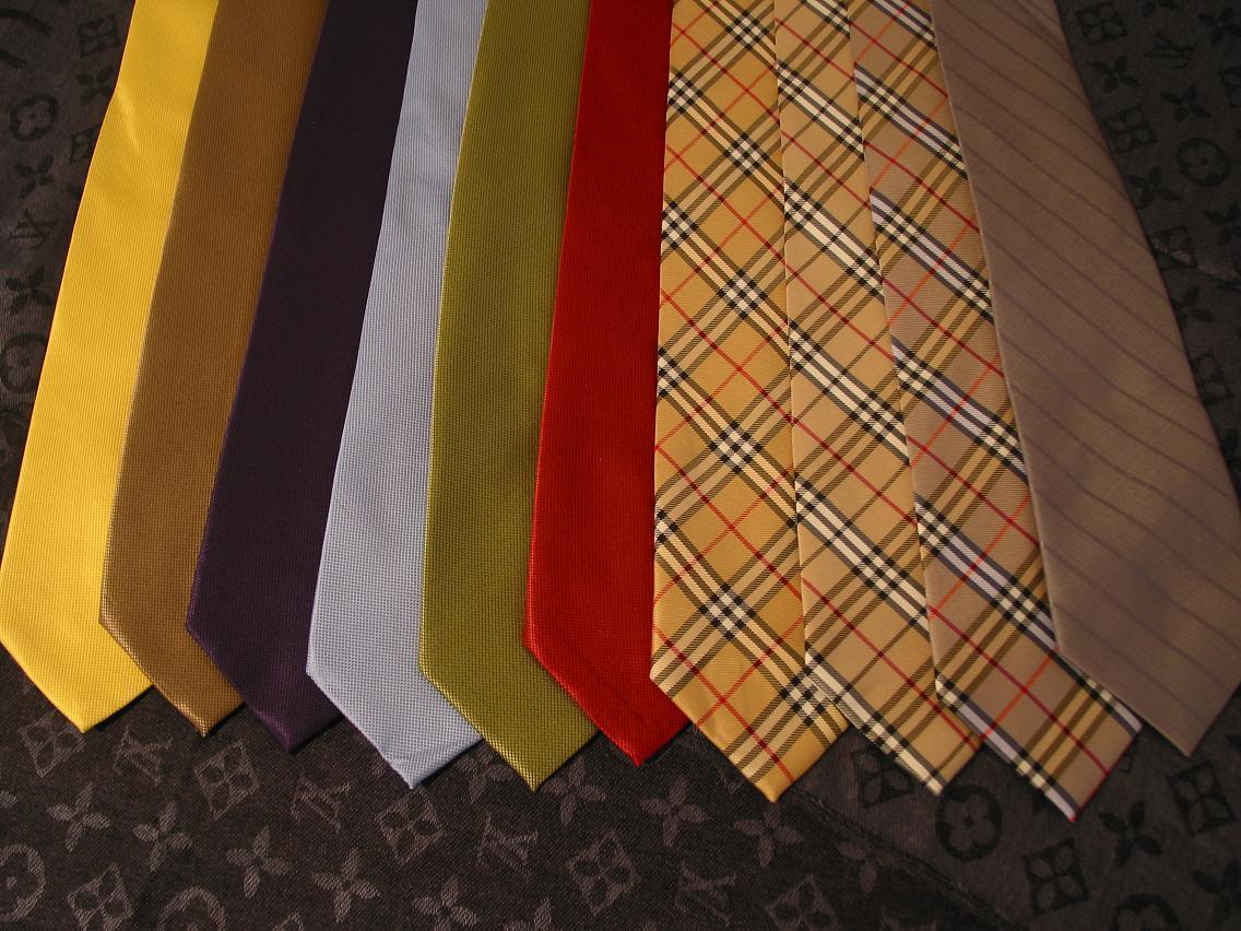 Los colores de las corbatas ayudan a fijar los términos no escritos de cualquier relación