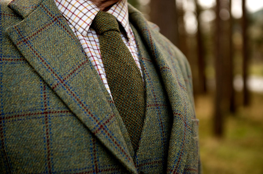 La corbata de lana verde, un aire elegante y ecléctico a la vez que tradicional