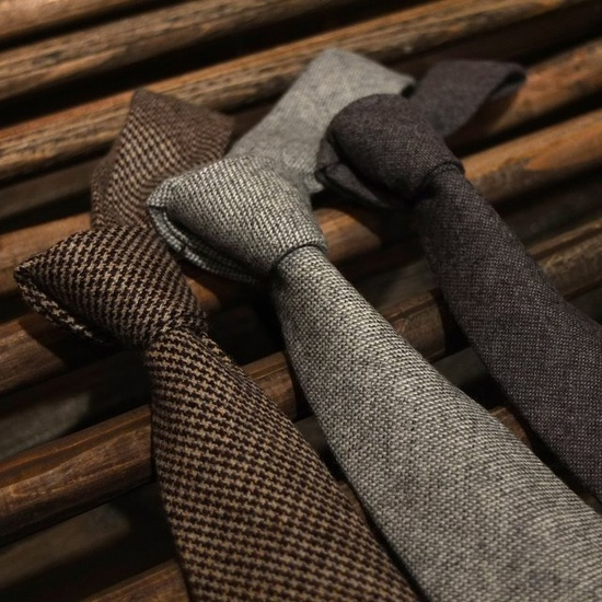 Las corbatas de lana ganan terreno en el mundo de la moda