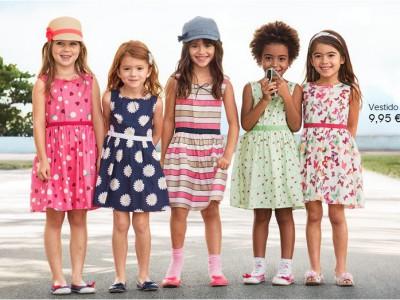 Moda infantil para niñas coquetas