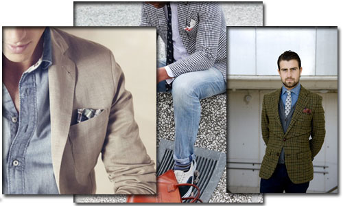 El pañuelo de bolsillo vuelve a estar de moda