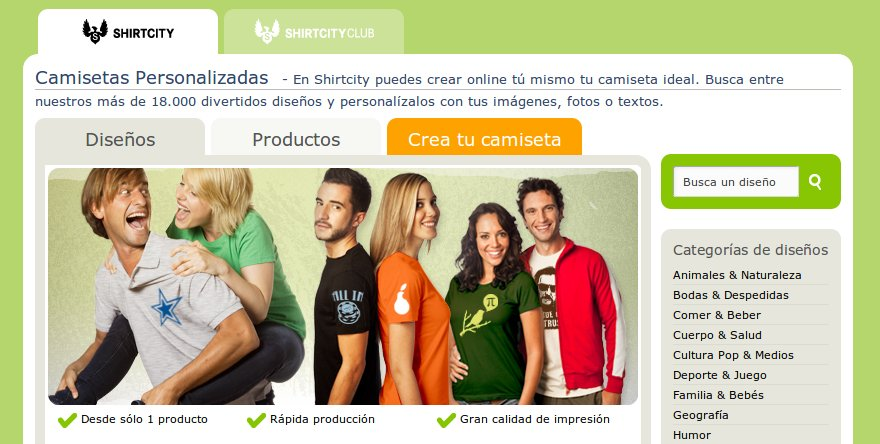 Shirt City, personaliza tu camiseta