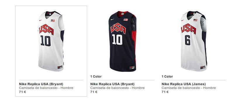 Camisetas de baloncesto Nike