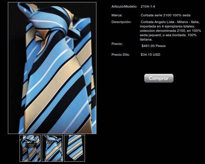 Corbatas 100% seda de Angelo Lista