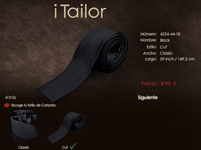 Corbatas finas de punta roma en iTailor