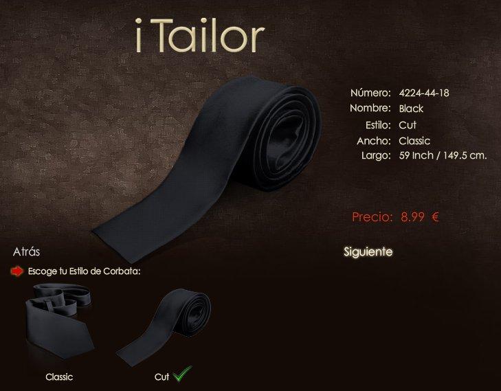 iTailor: corbatas finas de punta roma