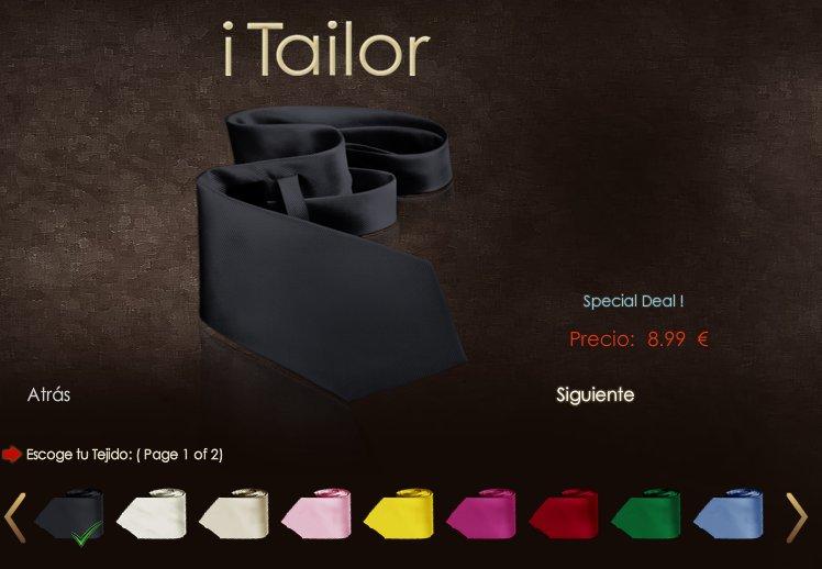 iTailor: corbatas online a medida