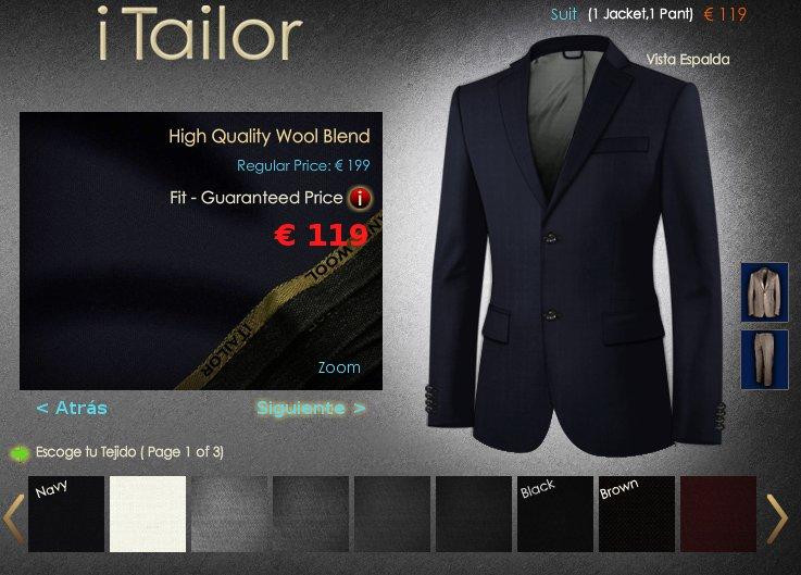 iTailor trajes, pantalones, camisas y complementos a medida