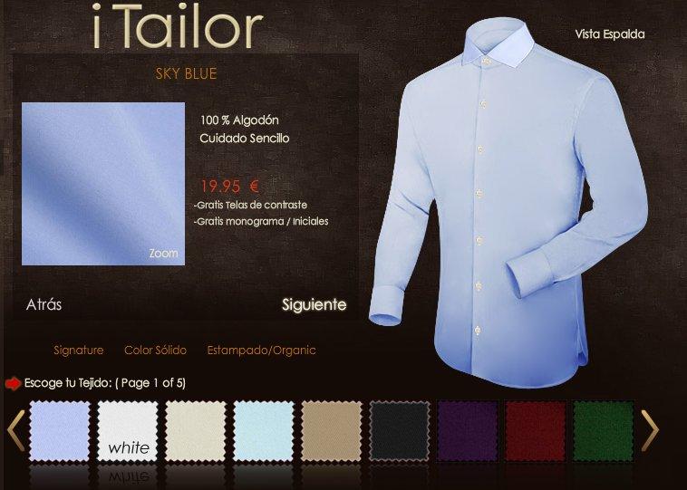 iTailor: camisas a medida