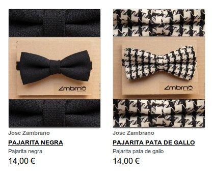 Pajaritas y corbatas para hombre