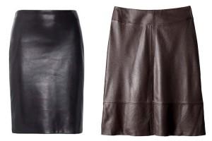 Faldas cuero