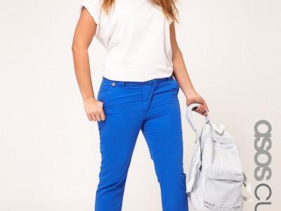 Ropa en tallas grandes, colores vivos en jeans