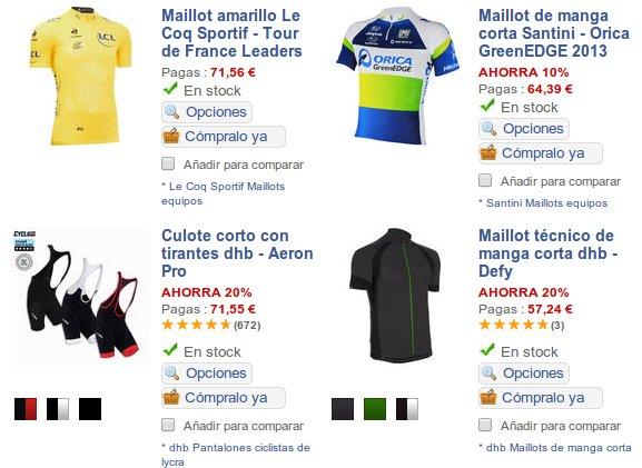 Catálogo marcas de ropa deportiva