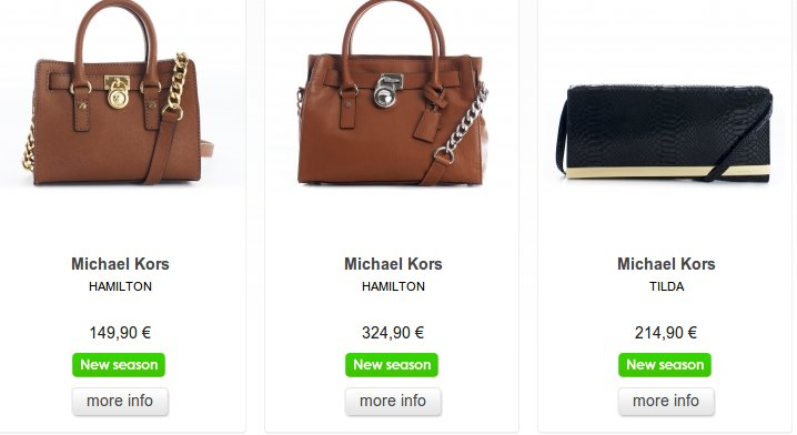 bolsos y carteras de firmas exclusivas