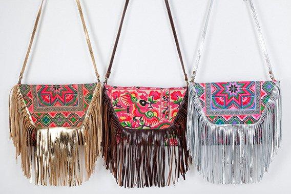 bolsos etnicos con flecos