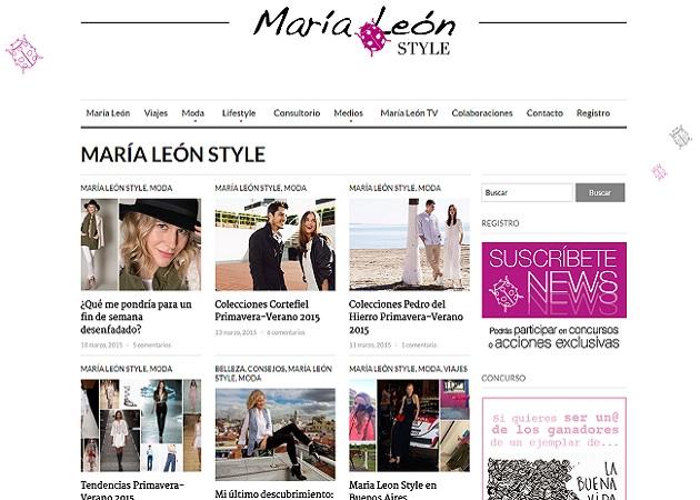 Blog Maria León