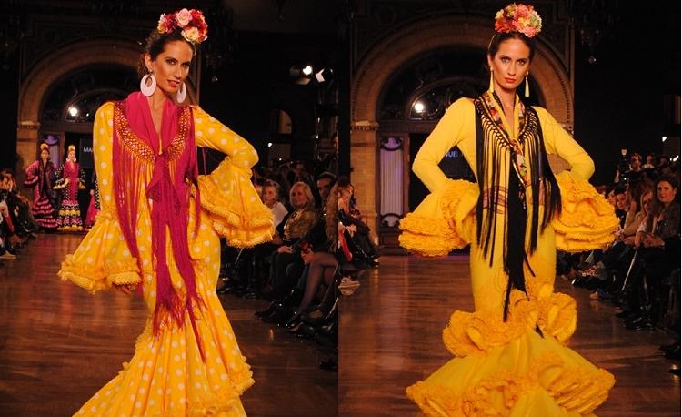 Trajes de Flamenca amarillos