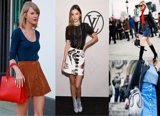 Faldas con botones al estilo de Vogue