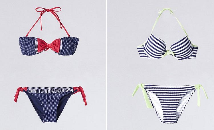 bikinis de Blanco