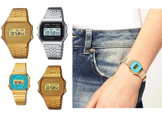 ae2632bf5f79 reloj casio militar dorado