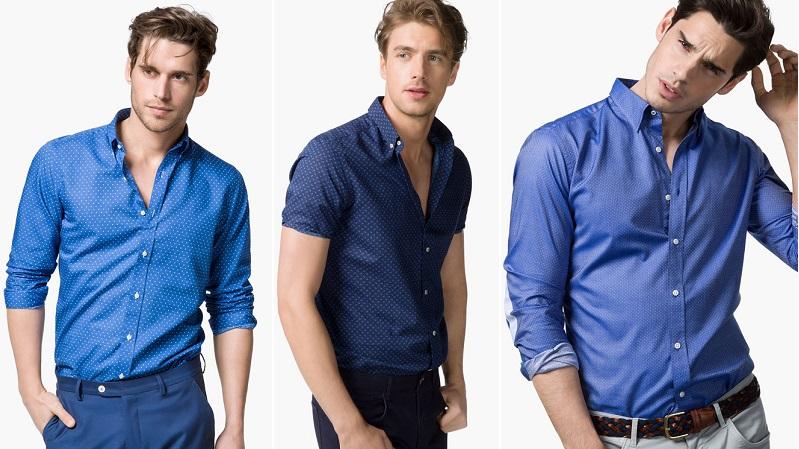 camisas de hombre azules 2
