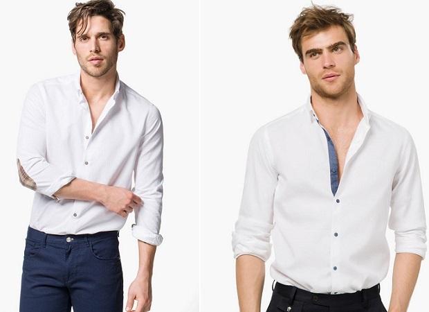 camisas de hombre blancas