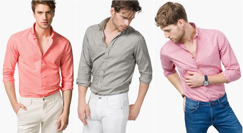 camisas de hombre color