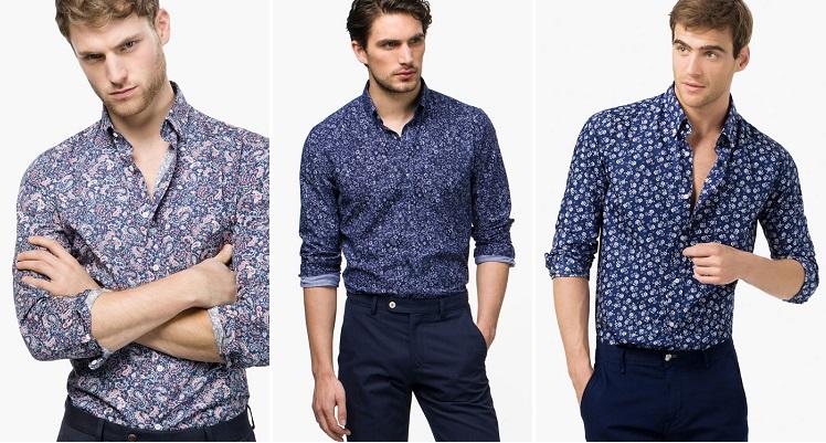 camisas de hombre estampadas