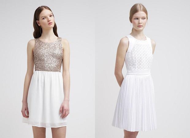 vestidos de cóctel blancos