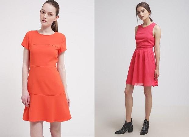 vestidos de cóctel color