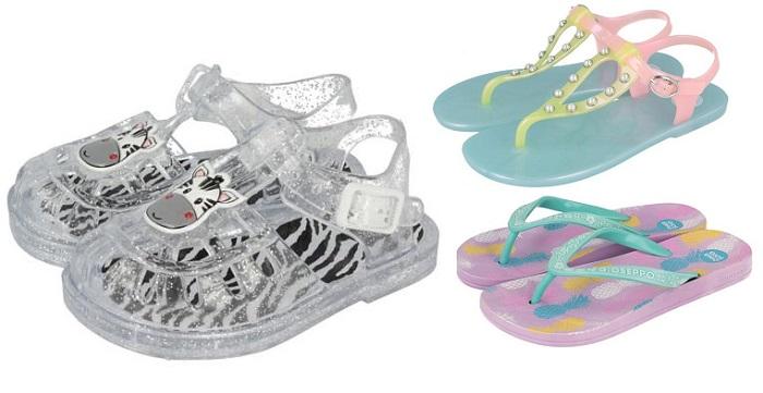 zapatos de niña playa