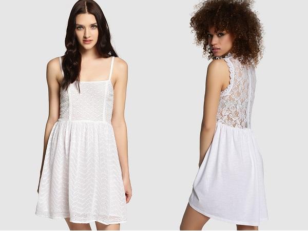 blanco color de moda espalda