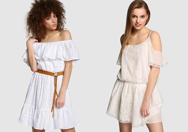 blanco moda vestidos boho