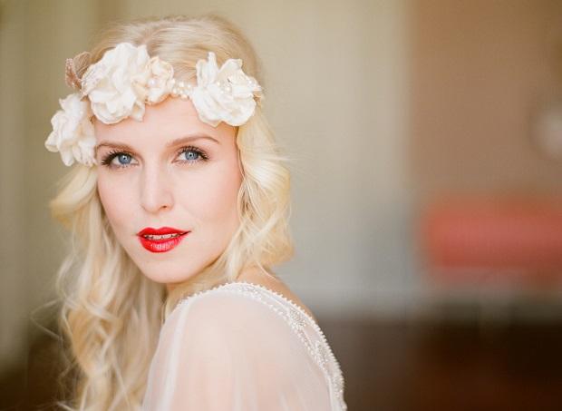 labios rojos novia