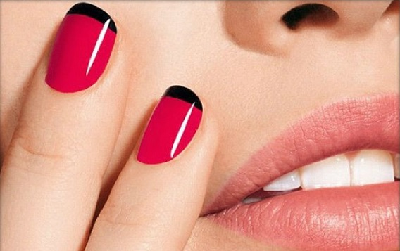 manicura francesa color