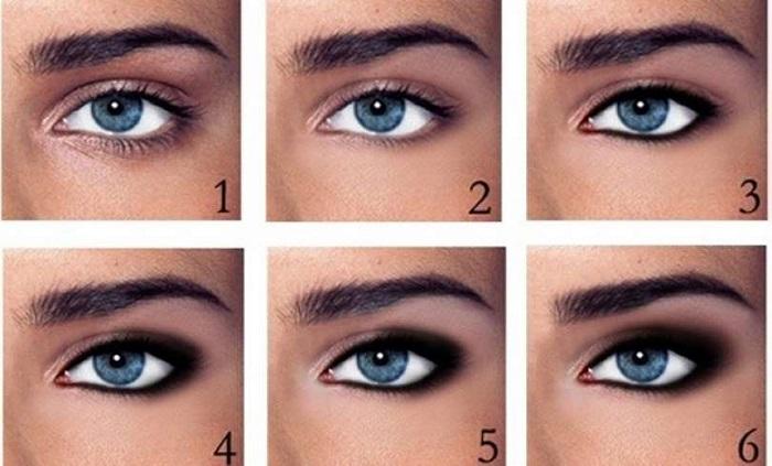 Maquillaje de ojos paso a paso para principiantes - Como maquillarse paso a paso ...