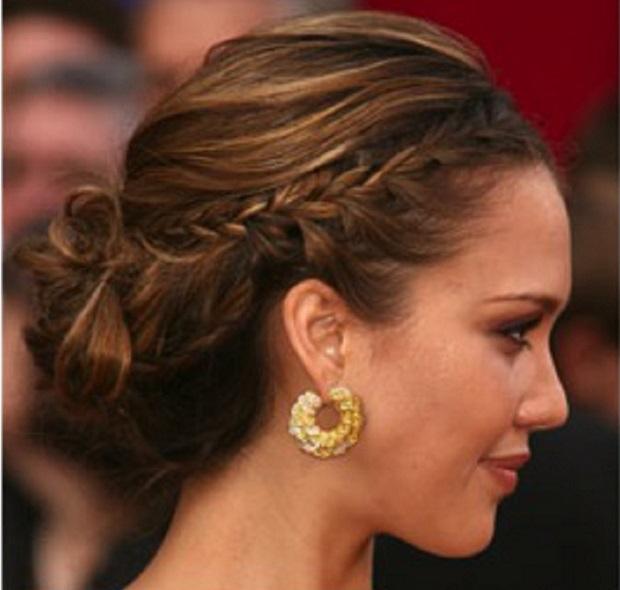 peinados de pelo largo recogido