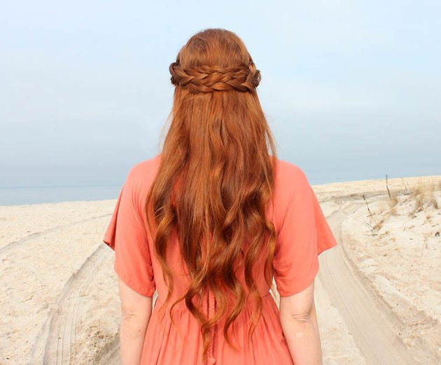 pelo largo suelto
