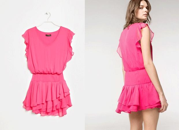 Vestido Rosa Mango