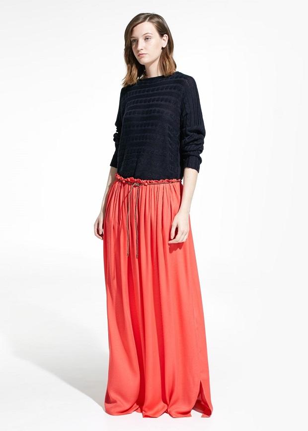 falda larga para ir a trabajar