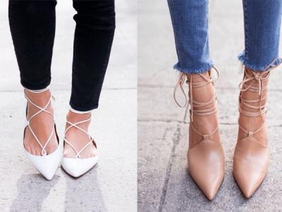 Bailarinas lazadas, los zapatos que se anteponen esta temporada