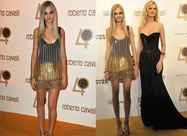 Cara Delevingne vestido Roberto Cavalli