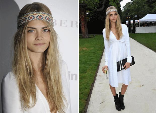 Cara Delevingne look hippie