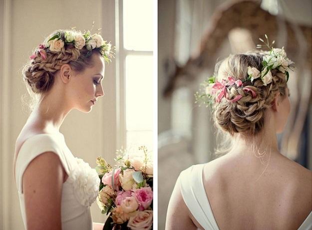 flores en el pelo para novias
