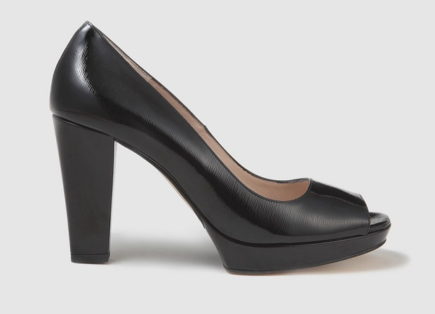 peep toes negros